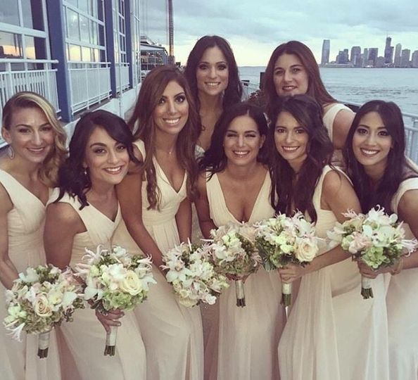 Bridal party hair and makeup