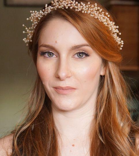 natural red hair soft preety bridal makeup