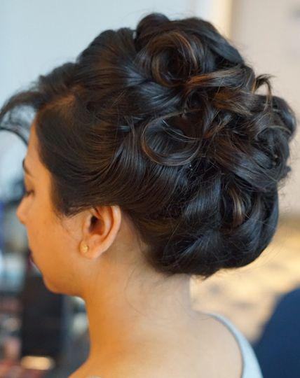 Updo hair