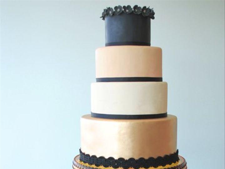 Tmx 1349477715175 Ablackpinkflowersw West Hollywood wedding cake
