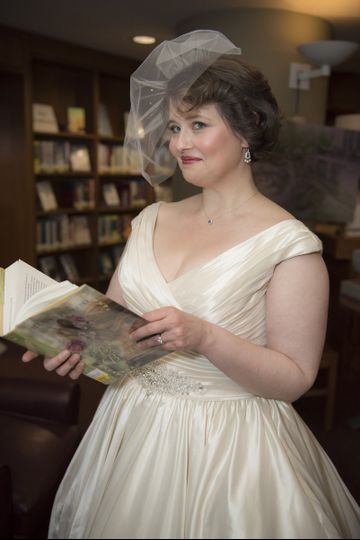 The Historic Blackstone Library in Branford, CT was the setting for this winter wedding. Our bride...