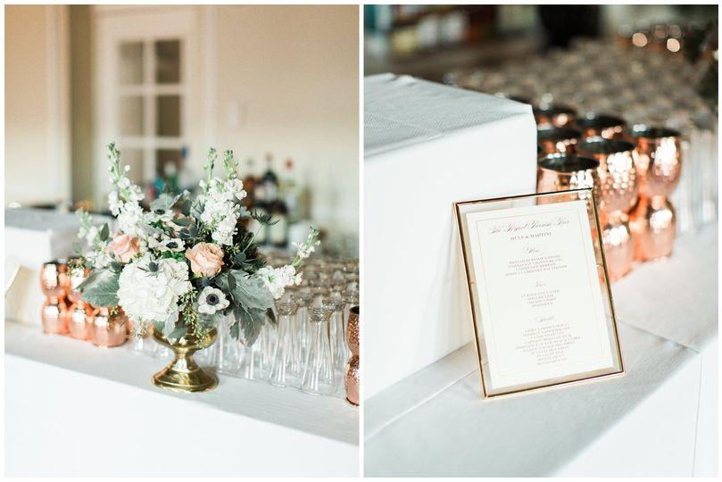 Hamilton Club wedding decor