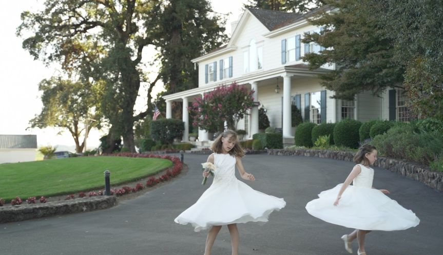 Twirling flower girls - Green Fern Media