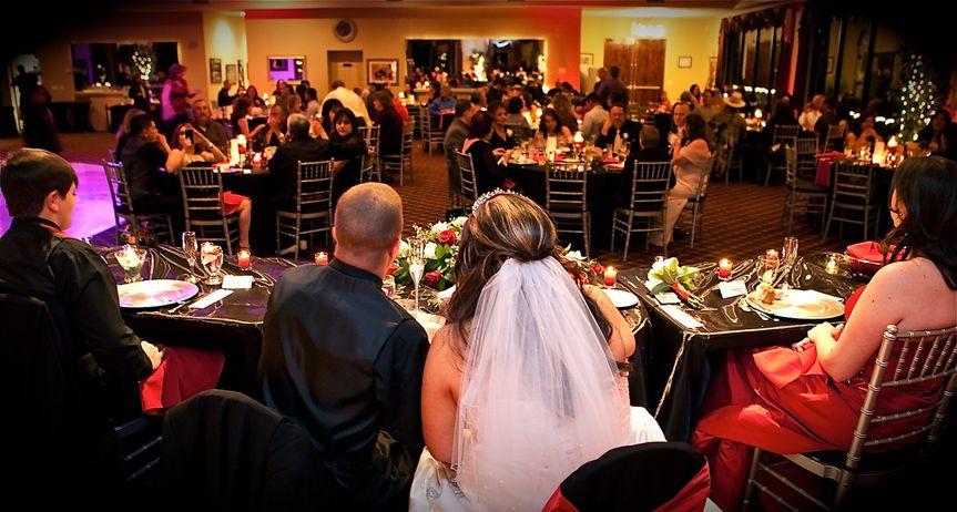 Lively reception night