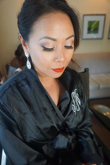Soft makeup look