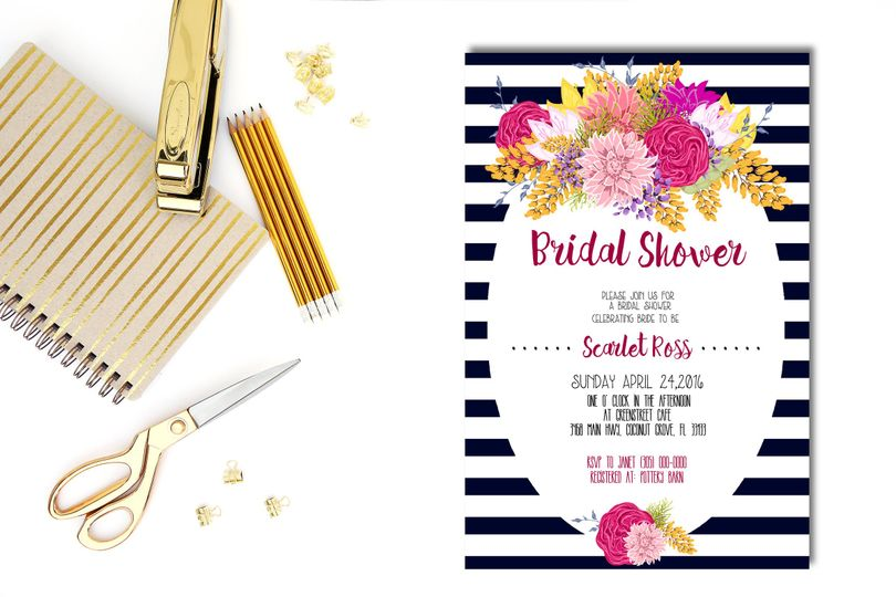 It's time to honor the bride to be at her very own bridal shower...Made specifically to match the...