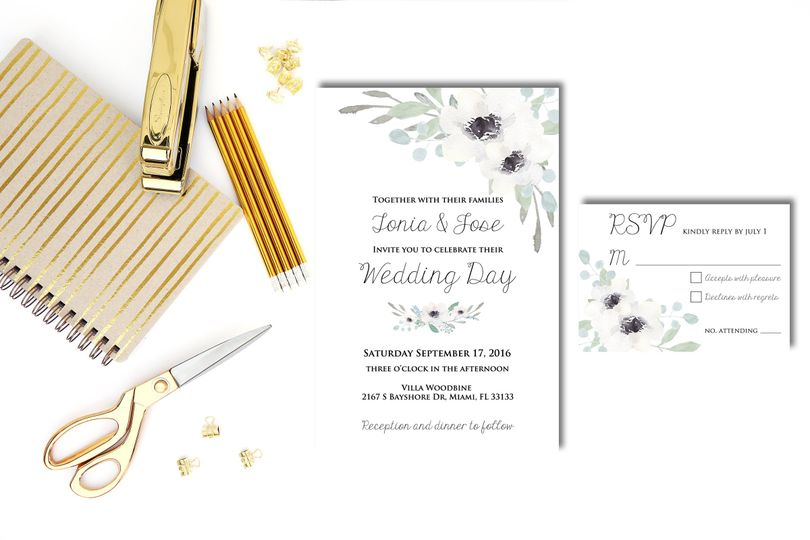 Simple yet classy wedding invitation set that will awe your guests. Have them join you for your most...