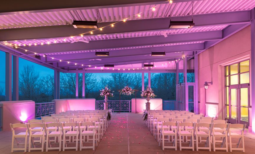 Covered terrace ceremony