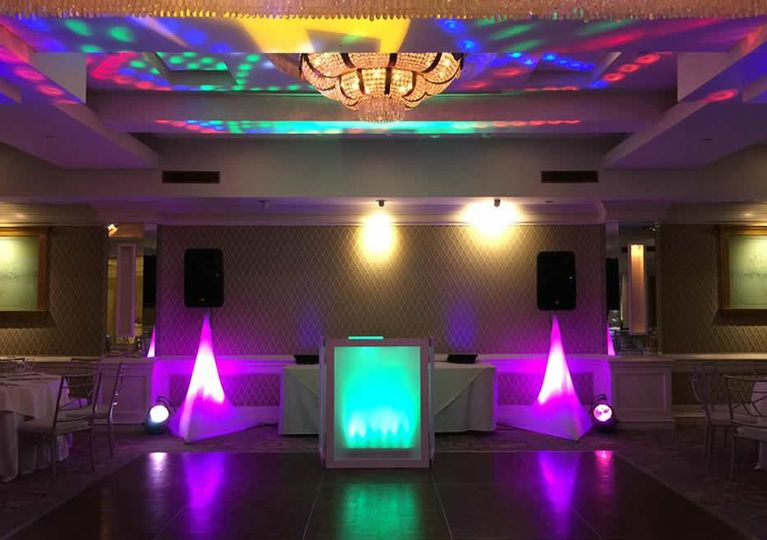 DJ facade and lights