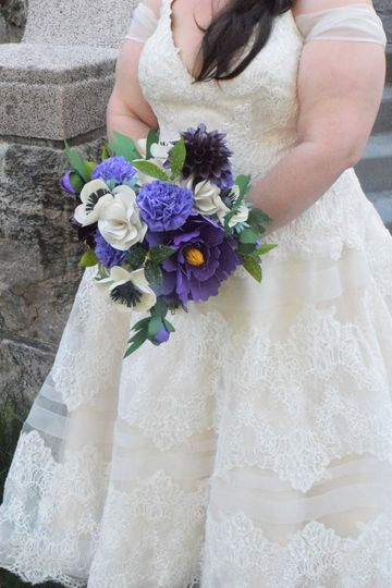 Purple and white elegance