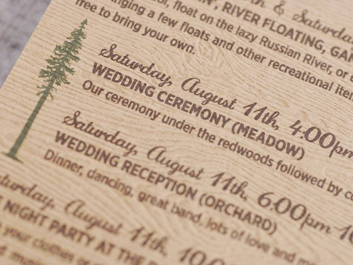 Tmx 1458309030664 Guerneville015 Biddeford, ME wedding invitation