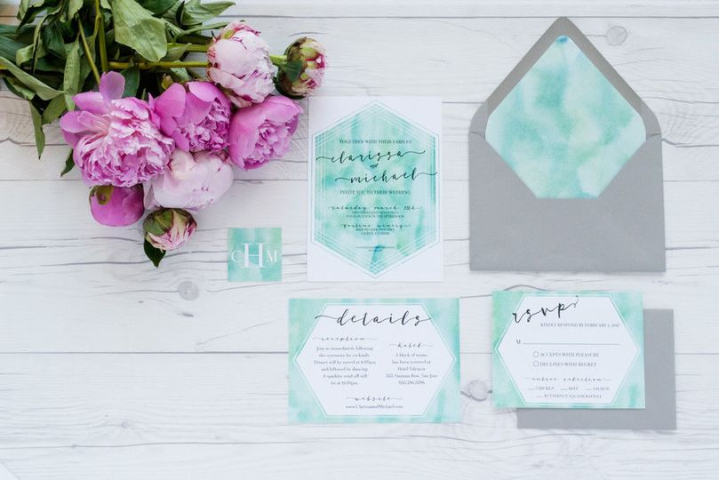 adf2c9d75813b4b4 1500501757670 wedding invite suite faux watercolor geometric