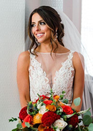 Happy Bride in rich fall tones
