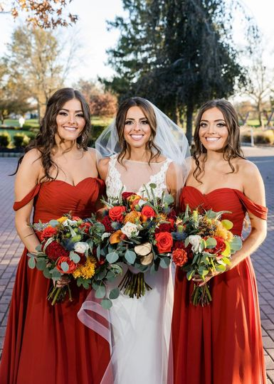 Beautiful Bride and sisters