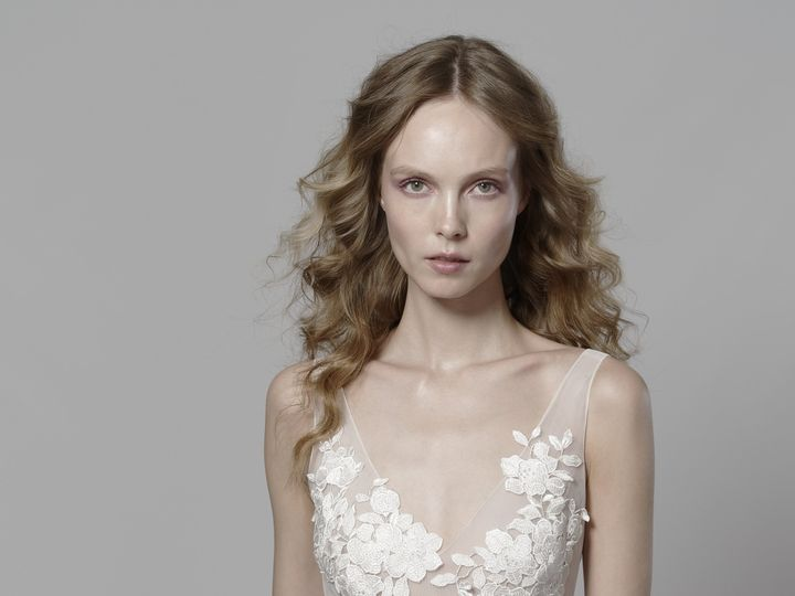 Tmx V Neck Freesia Detail 51 78653 New York, NY wedding dress