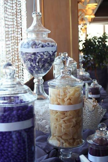 purple candy buffet at tower clu