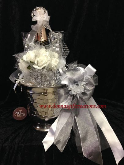 Toasting Basket. Great for a wedding, engagement, or shower gift. Includes 2 crystal decorated...