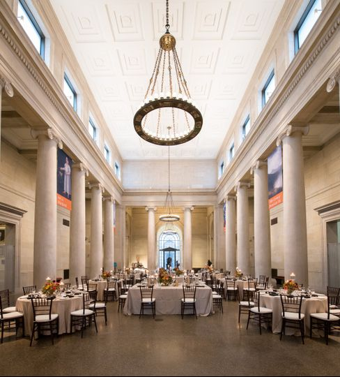 the baltimore museum of art wedding ceremony reception