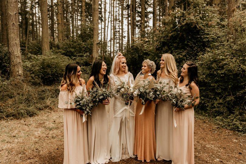 Boho bridesmaids photos