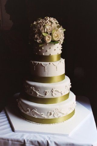 Elegant, sophisticated and just what the bride ordered. This work of art was filled with chocolate...