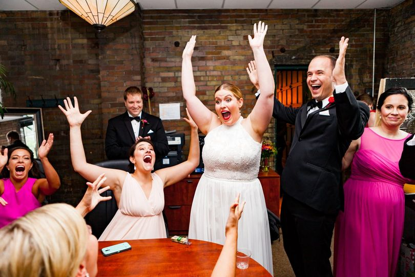 Bride wins the game