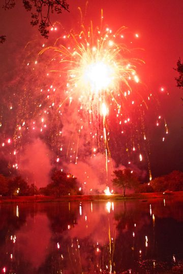 Pond Fireworks