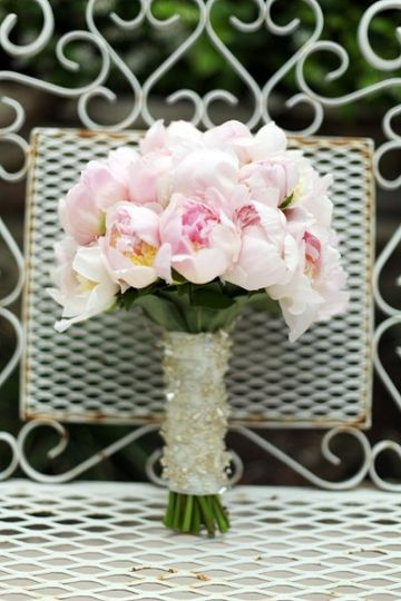 Blush Pink Peony Bouquet photo by Brittany Dawson
