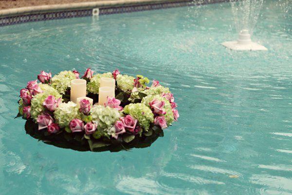 Reception Decor - Pool Wreath