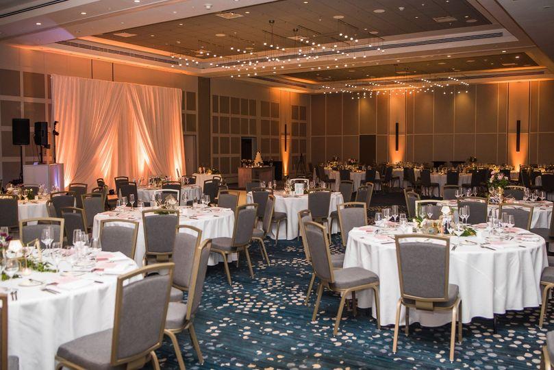Grove Ballroom with uplighting
