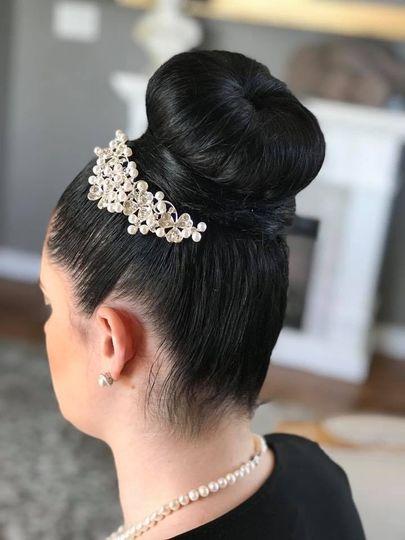 Beautiful bridal bun