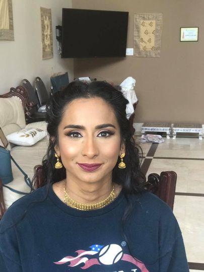 Plum tones with airbrush makeup