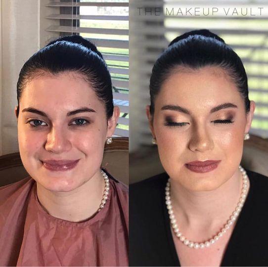 Soft airbrush bridal makeup