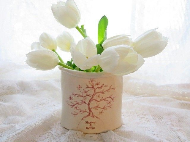 personalized tree of life vase