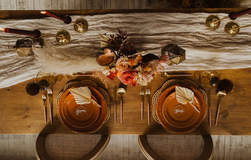 Winter celestial table