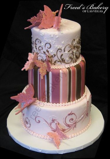 Girl wedding cake