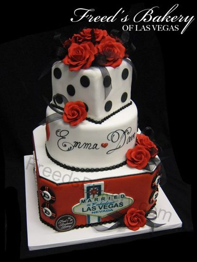 Deep Purple Design Fun Wedding Cake
