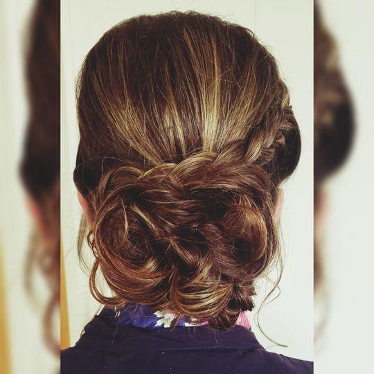 Brides maid Hair style