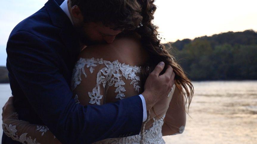 Intimate moment post-ceremony