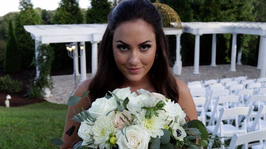 Bride shortly after ceremony