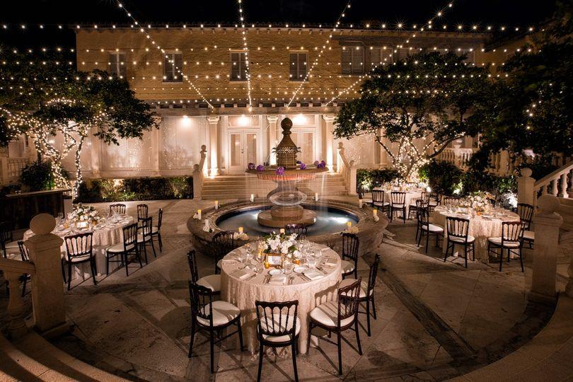Evening reception area