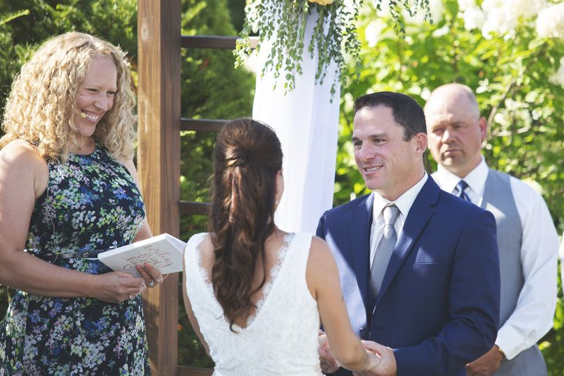 Sharing their vows