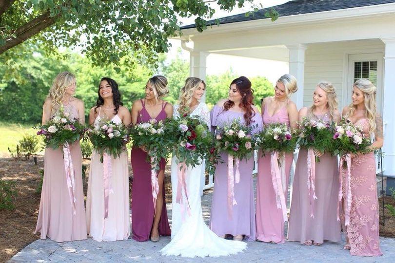 Boho style bouquets