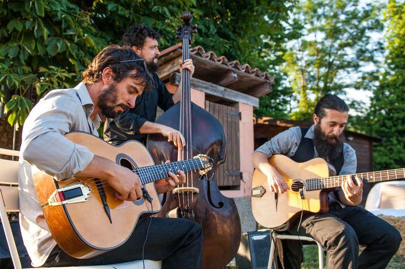 Bluegrass trio wedding reception