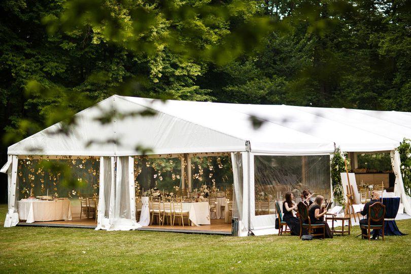 Open tent event