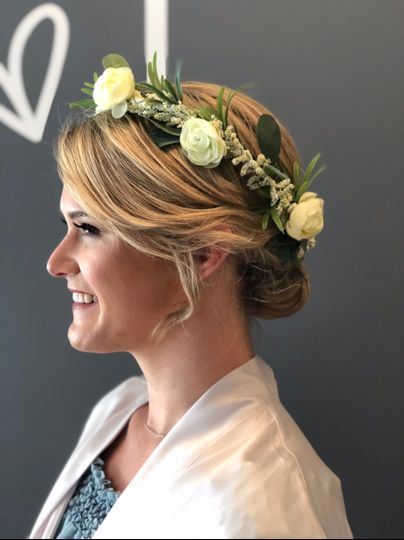Hair and crown