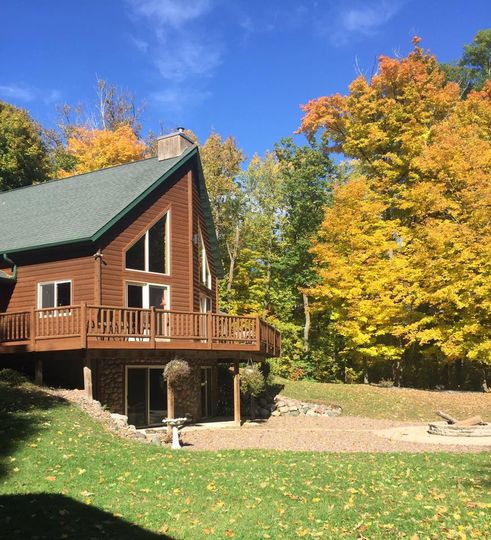Basswood chalet in autumn