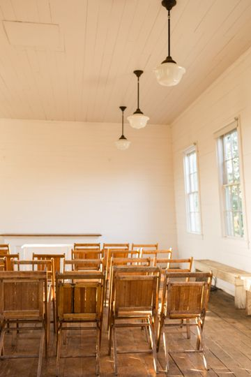 Interior of 1888 Schoolhouse