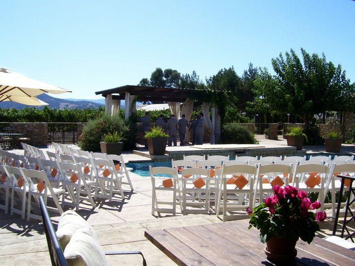 Ceremony around the pool