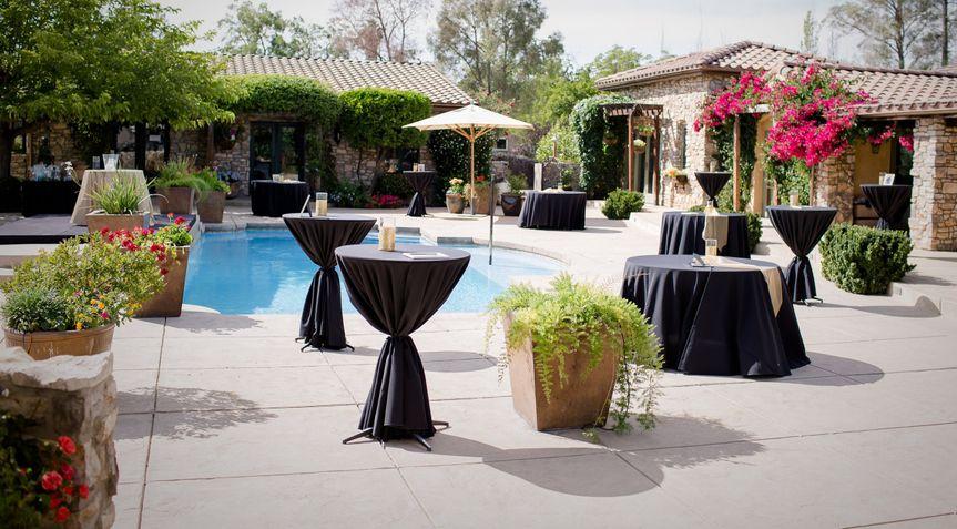 Pool patio cocktail reception