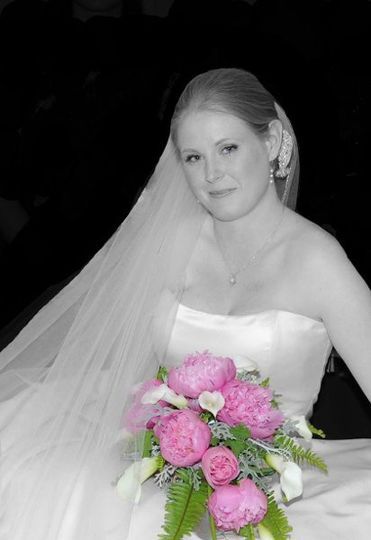 Bride w/black & white conversion